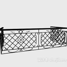 阳台栏杆3d模型下载