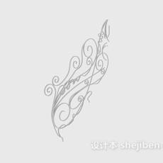 欧式铁艺角花3d模型下载
