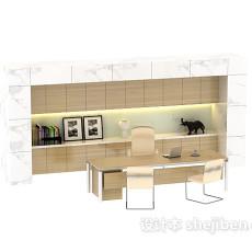 隔墙柜装饰品书柜3d模型下载