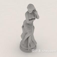 女性艺术人体石膏雕像3d模型下载