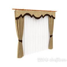 古典窗帘max窗帘3d模型下载
