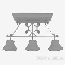 欧式吧台吊灯3d模型下载