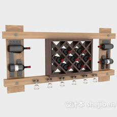 酒庄酒架3d模型下载