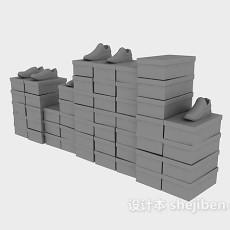 商业货架3d模型下载