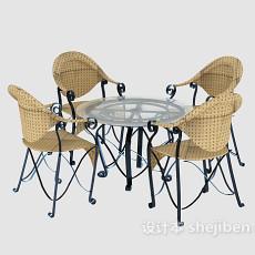 户外可移动桌椅3d模型下载