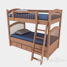 儿童床上下床3d模型下载