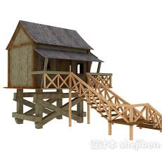 木质小屋3d模型下载
