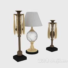 欧式台灯摆设品3d模型下载