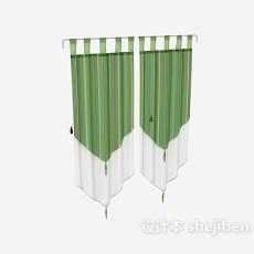 纱质窗帘max窗帘3d模型下载