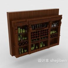 酒窖酒柜3d模型下载