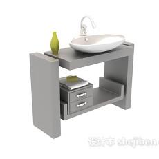 洗手盆台盆3d模型下载