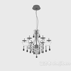 现代水晶吊灯3d模型下载