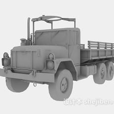 军用大卡车3d模型下载