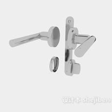不锈钢门锁3d模型下载