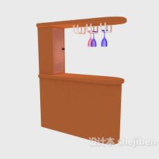 吧台酒杯架3d模型下载