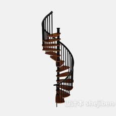铁艺旋转楼梯3d模型下载