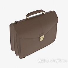 手提公文皮包3d模型下载