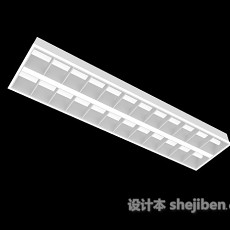 1.2m格栅灯3d模型下载