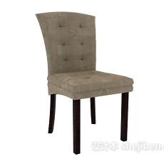 布艺椅子3d模型下载