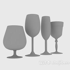 高脚杯酒杯3d模型下载
