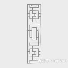 木花格3d模型下载