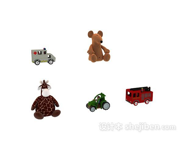 儿童玩具玩偶模型 3d模型下载