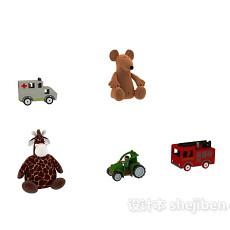 儿童玩具玩偶 3d模型下载