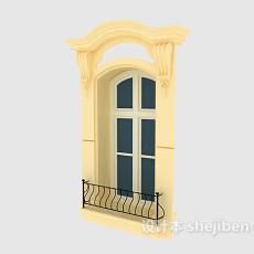 欧式窗户3d模型下载