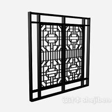 古典中式窗户花格3d模型下载