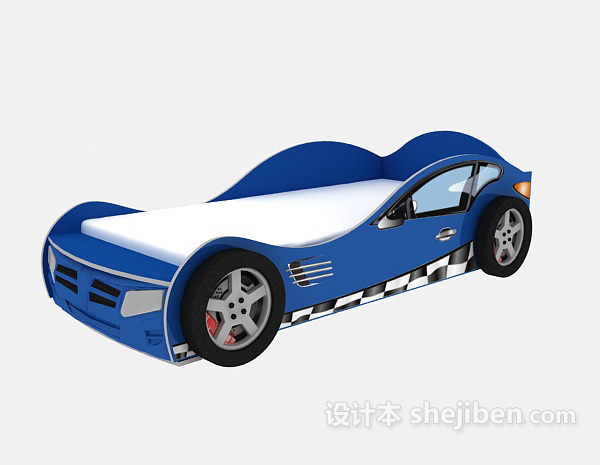 儿童单人床模型-汽车系列