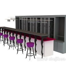茶楼吧台3d模型下载