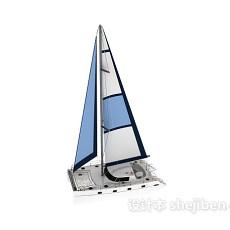 免费帆船3d模型下载