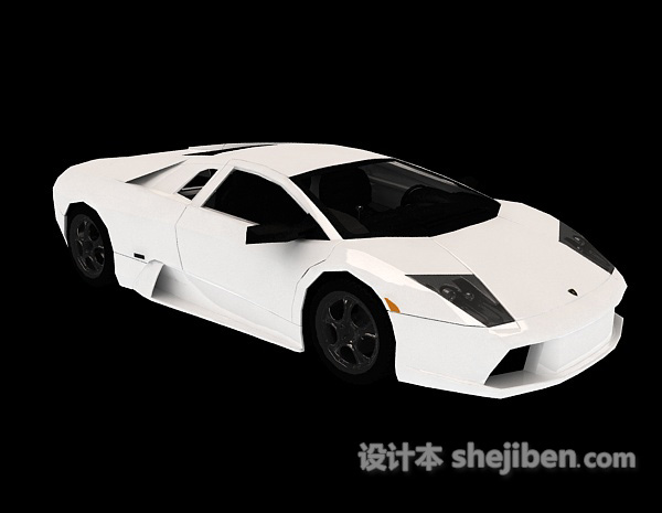 白色跑车车辆模型3d模型下载