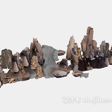 假山石3d模型下载