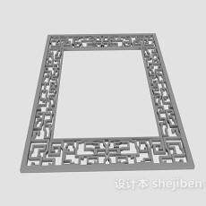 中式窗框花格3d模型下载