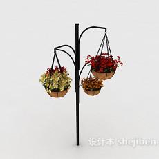 吊花篮3d模型下载