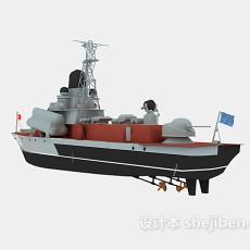 军舰3d模型下载