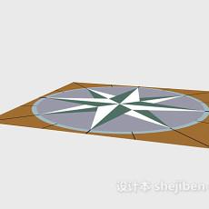 地面拼花地砖3d模型下载