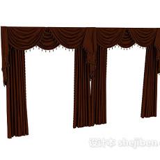 古典欧式窗帘max3d模型下载