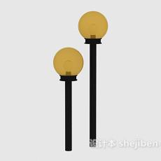 中式路灯3d模型下载