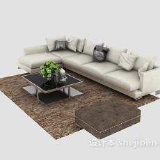 优雅舒适现代简约风格沙发组合3d模型下载