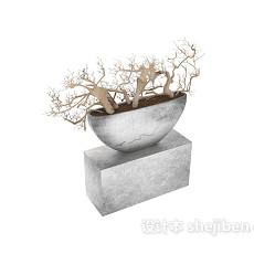 盆景 3d模型下载