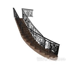 欧式楼梯栏杆扶手3d模型下载