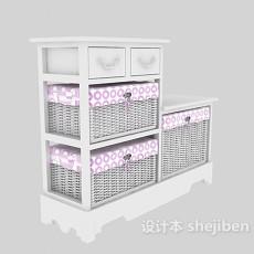 鞋柜3d模型下载