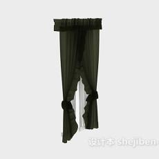 纱质窗帘图片3d模型下载