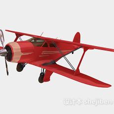 小型飞机-仿真直升机3d模型下载