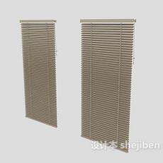 木质百叶窗3d模型下载