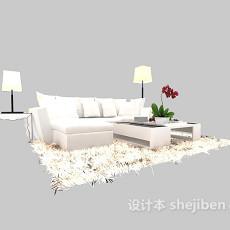 简约现代沙发3d模型下载