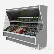 超市水果蔬菜货架3d模型下载