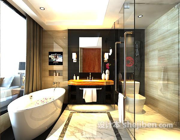 卫生间浴缸模型下载